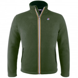 Felpa K-WAY PASCAL POLAR FLEECE verde senza cappuccio