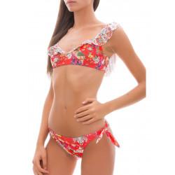 Bikini CHANGIT fascia con spalline fantasia colorata