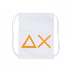 Zaino sacca SUN68 bianco con logo arancione
