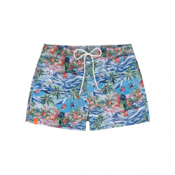 Costume uomo SUN68 BEACH in fantasia colorata mare e pesci
