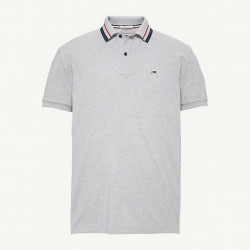 TOMMY HILFIGER POLO GREY HTR TOMMY CLASSIC CON LOGO TOMMY CLASSICS