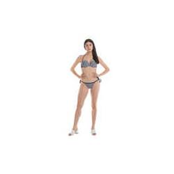 Bikini 4GIVENESS nero e bianco con coppe imbottite e slip regolabile