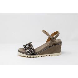 Scarpe donna sandalo gioiello con zeppa grigio ALMA E PENA V20433