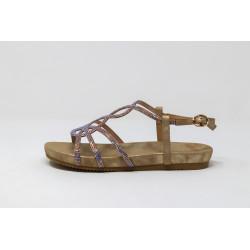 Scarpe donna oro sandalo gioiello senza tacco ALMA EN PENA V20832