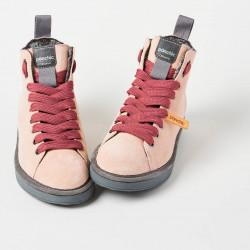 Scarpe polacchini PANCHIC rosa cipria, laccio rosa scuro con pelliccia interna. P01W14002S6 col. A17212