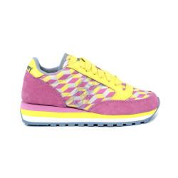 Scarpe donna SAUCONY JAZZ TRIPLE giallo rosa e azzurro. S60497-4