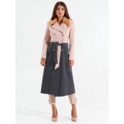 RINASCIMENTO cappotto CFC0100003003 bicolore grigio rosacollo eco-pelliccia
