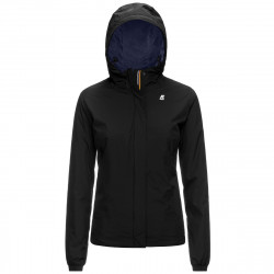 K-WAY giacca LILY MICRO RIPSTOP MARMOTTA donna nera interno blu. K1119RW