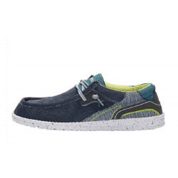 HEY DUDE scarpe uomo WALLY HAWK space blue in tela traspirante suola estraibile