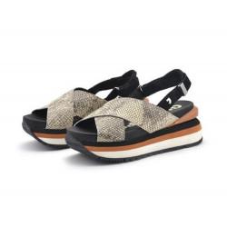GIOSEPPO scarpe donna GRINNELL snake sandali fantasia serpente con zeppa
