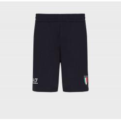 ARMANI pantaloni uomo Olimpiadi TOKYO 2020 blu navy shorts elasticizzati