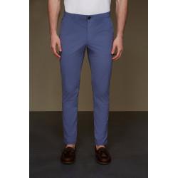 RRD pantaloni uomo TECNO WASH CHINO azzurro lunghi lycra elasticizzati
