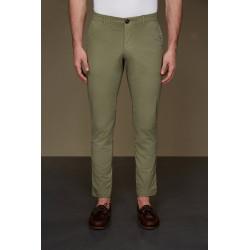 RRD pantaloni uomo TECNO WASH CHINO verde lunghi lycra elasticizzati