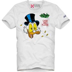 SAINT BARTH t-shirt uomo AUSTIN CASH MRDUCK bianco cotone maniche corte girocollo