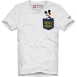 SAINT BARTH t-shirt uomo AUSTIN MICKEY bianco cotone maniche corte girocollo