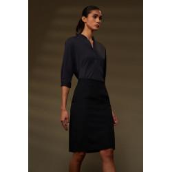 RRD camicia donna OXFORD KOR LADY nero lunga in lycra elasticizzata