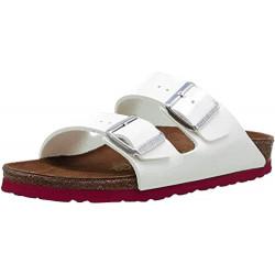 BIRKENSTOCK scarpe donna ARIZONA doppia fascia bianco suola rosa